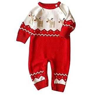 HCFKJ Mameluco De Bebé ReciéN Nacido Ropa De Navidad Jerseys De Punto Traje De Reno