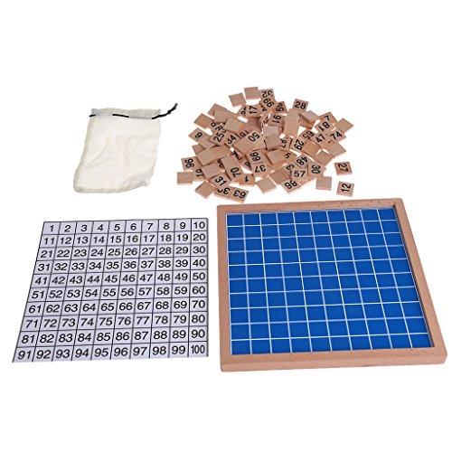 ssori Hundred Board Math 1 bis 100 Fortlaufende Zahlen Spielzeug Zählen ()