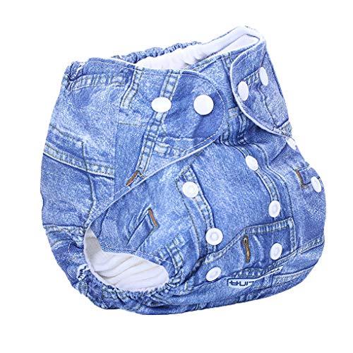 ELENXS Unisexe Taille imperméable Swim Ajustable Couche-Culotte Piscine Pantalon bébé réutilisable Lavable Pool Cover 31 Motif