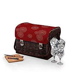 PICNIC TIME Kabrio Picnic Basket with Wine and Cheese Service for Two, Harmony Collection