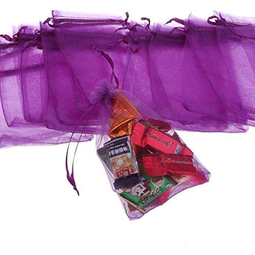 zhjz Kordelzug Mesh Tasche für eine Hochzeit Candy Tasche (lila)