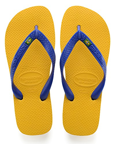 Havaianas Men's Brazil Flip-Flop ((8 M US (39/40 BR)), Banana yellow)