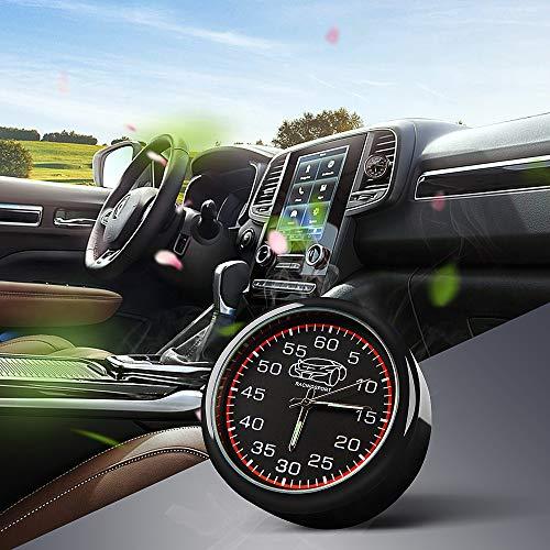 CAR ROVER Deodorante per Auto con Cruscotto Orologio al Quarzo, Air Vent Diffusore Profumo Auto, Aromaterapia Diffusore di Fragranze con 4pc Balsami Oceanici So