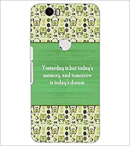 PrintDhaba Quote D-5722 Back Case Cover for HUAWEI NEXUS 6P (Multi-Coloured)