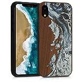 kwmobile Coque Apple iPhone XR - Étui de Protection Rigide en Bois pour Apple iPhone...