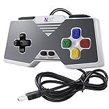 iNNEXT 2x USB SNES-Spiel PC-Controller GamePad für Windows PC Super Famicom,Raspberry Pi, RetroPie (Multi-color)