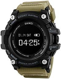 SKMEI Bluetooth Digital Smart Watch Colour Khaki With Health Fitness And Sport Activity Tracker, Heart Rate Sensor...