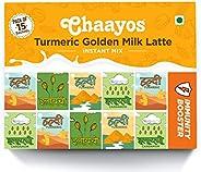 Chaayos Turmeric Latte | Turmeric Golden Milk Latte | Instant Haldi Doodh Premix (15 Sachets)