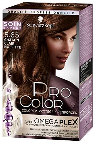 Schwarzkopf - Pro Color - Coloration Permanente Anti-Casse Cheveux - Châtain Cair Noisette 5.65