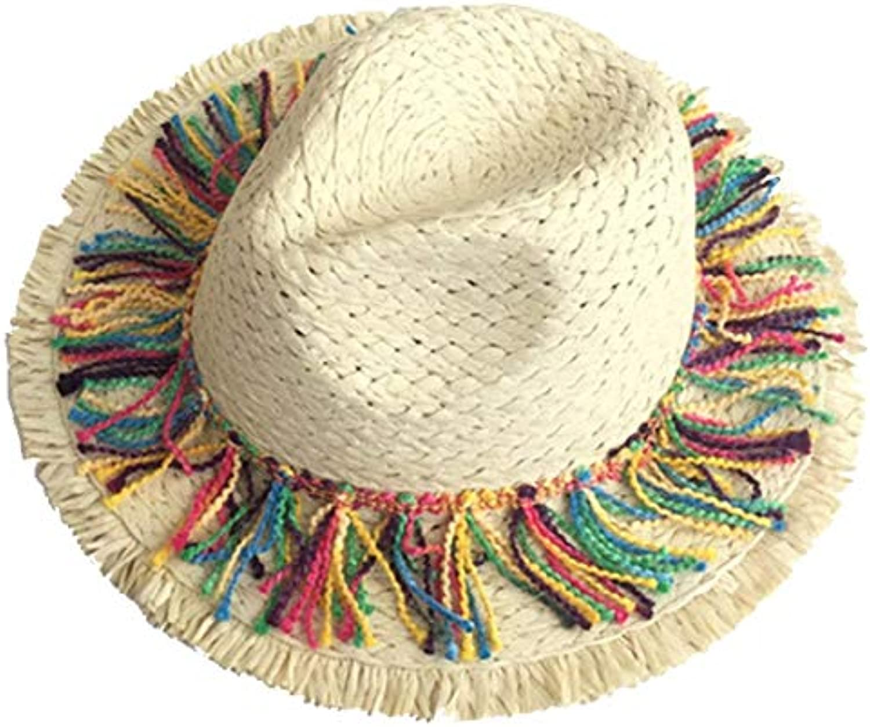 Cappello Solare di Paglia da Donna Prossoezione Solare Cappello Elegante  Pieghevole Anti-Cappello da Sole Cappello A Tesa Larga... Parent 28ed0a cd32cc471ca3