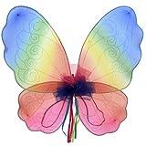 Regenbogen Fee Flügel Kostüm Zubehör Kinder