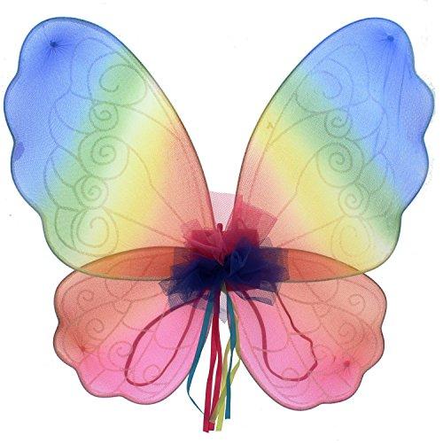 Regenbogen Fee Flügel Kostüm Zubehör -