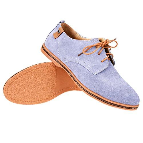 TinTop Schnürhalbschuhe Herren Derby Wildleder Oxfords Anzugschuhe Lace-Ups Herren Schuhe Grau