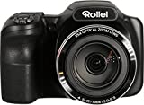 Rollei Powerflex 350 WiFi Digital Camera - 35x super zoom, with stabilized focal lenght up to 875 mm, 16 MP Sony sensor, Full HD video - Black
