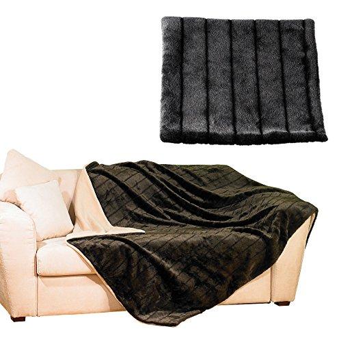 Wilson gabor couverture élégante en fausse fourrure de vison 150 x 200 cm, marron