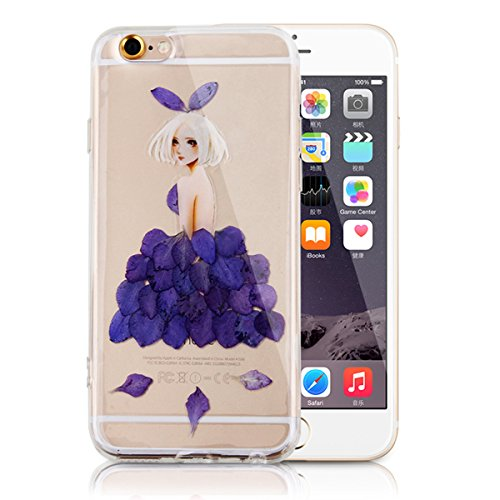 Coque pour iPhone 7 Plus/8 Plus,iPhone 7 Plus Or Rose Coque en Silicone Clair Ultra-Mince Etui Housse avec Bling Diamant,iPhone 7 Plus Placage Coque Bling Bling Glitter Sparkle Diamond Silicone Case R Fleur réel fille-violet