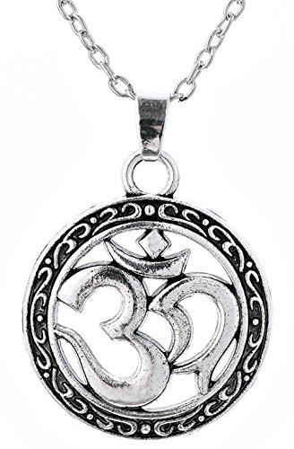 Dawapara Halskette mit Anhänger, keltischer Knoten, Aum, Om, Ohm, Sanskrit, Yoga, religiöser Schmuck für Männer und Frauen