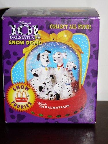 Disney 101Dalmatians Schnee mit Fell Snow Dome 1996