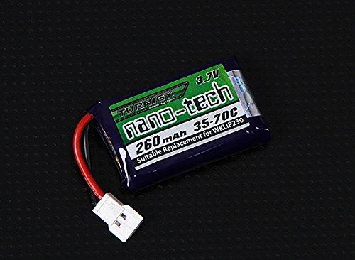 HobbyKing - Turnigy nano-tech 260mAh 1S 35-70C Lipo Pack (QR Ladybird/Genius CP/Mini CP) - DIY Maker Booole