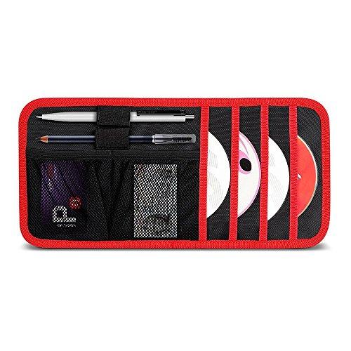 Preisvergleich Produktbild Aomaso Auto Sonnenblenden Organizer Kartenaufbewahrung und Halter für elektronisches Zubehör Nylon Quadrupel Schichten, Sonnenschutz 6-Taschen CD Aufbewahrung