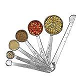 Messlöffel 7 Teillig aus rostfreiem Edelstahl Messloeffel Set für Kochen
