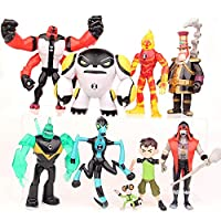 Children Supplies 9 Pieces Earth Defender Juvenile Hacker BEN10 Hand-made Large Super Animal Toy Doll Doll Model Decoration
