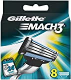Gillette Mach3 Manual Razor Blades - Pack of 8 Blades
