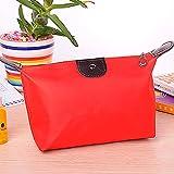 Alquiler de Vacaciones Maquillaje cosmético Bolsa del Recorrido Bolsas portátil inserción de Nylon (roja)