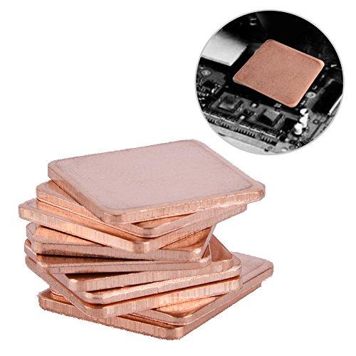 Richer-R 10 x Thermal Pad GPU CPU Kühler, 10 Stücke 20 x 20mm Kupfer Wärmeleitpad Set,Leitfähig Thermal-Pad Kühlkörper Thermische Pad für GPU CPU Laptop PC Computer(1.5mm) Cpu-pc-laptops