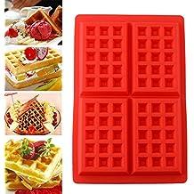 Soledi® Durable 4-cavity Mini gofres para tarta molde de silicona molde cocina