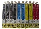ESMOnline 10 komp. XL Druckerpatronen zu Epson Workforce WF 2010W 2510WF 2520NF 2530WF 2540WF 2630WF 2650DWF 2660DWF 2750DWF 2760DWF