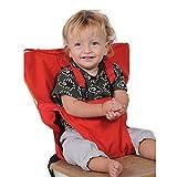 Uni Meilleur Bébé Portable Chaise Haute Voyage Sièges Housse de Sécurité pour Tout-Petits Chaise Haute Sangle Infantile Ceinture Sangle De Siège D'alimentation (rouge)