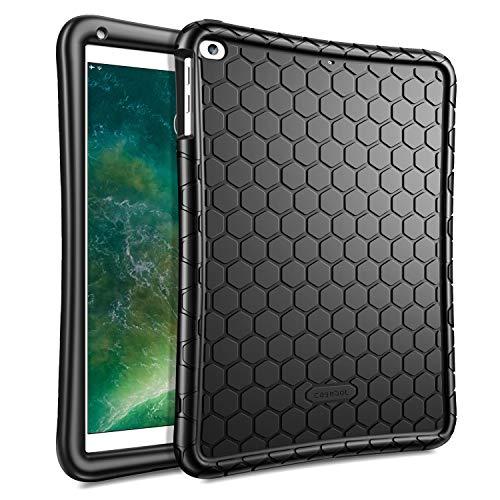 Fintie Silikon Hülle für iPad 9.7 Zoll 2018 2017 / iPad Air 2 / iPad Air - [Bienenstock Serie] Leichte rutschfeste Stoßfeste Schutzhülle Tasche Case Cover, Schwarz Apple Ipad 2 Silikon
