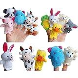 Zehui 10 Stück Fingerpuppen Fingertiere Handkasperletheater Puppets