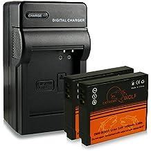 Cargador + 2x ExtremeWolf Batería DMW-BCM13 para Panasonic Lumix DMC-FT5 | LZ40 | TS5 | TZ37 | TZ40 | TZ41 | TZ55 | TZ56 | TZ58 | TZ60 | TZ61 | TZ71 | ZS30 | ZS35 | ZS40