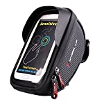 Bike Handlebar Bag, XPhonew Bicycle Top Tube Pouch, Cycling Frame Bag Phone Mount Holder for iPhone X 8 Plus 7 7 Plus 6 6S Plus Samsung Galaxy S8 S7 Edge S6 Edge Plus S6 S5 S4 Note 3 4 5 LG HTC Huawei Xiaomi OnePlus Sony Smartphones up to 6''