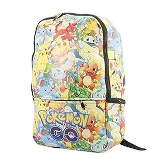 51wi8GUCTjL. SS324  - Mochila Pokemon Niños, Pokemon Go Pikachu Mochila Grande Escolar para Infantil y Niñas Unisex Bolsa Portátil para Mujeres Hombre Viaje Hombro Mochila Backpack para Estudiantes Adolescentes
