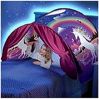 Kangrunmys Tente De Lit Enfant Bebe Garcon Fille Princesse Enfants Tente Tunne Lit RêVe Jouer Pop Up Ciels Lit Playhouse Interieur Tent Cadeau Moustiquaires Ciels de lit