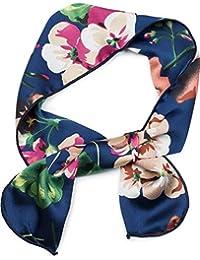 styleBREAKER Fin foulard pour femme avec un motif à fleurs, bandeau, tissu,  nœud 43e802780ac