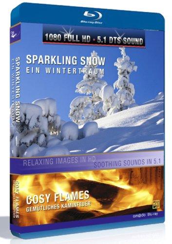 Preisvergleich Produktbild Sparkling Snow / Cosy Flames (Winterlandschaften + Kaminfeuer) [Blu-ray]