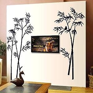 Wandaufkleber, Persönlichkeit Schwarz Bambus Schlafzimmer Wohnzimmer Esszimmer Fenster Veranda Küche Studie Heimtextilien, Schimmel Und Geruchsneutrale Aufkleber