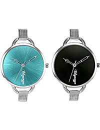 Eleganzza Analog Black Blue Dial Women's Watches Mesh Belt Watch for girls Combo pack of womens watches girls watches
