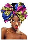 keland African Head Wrap Wax Stampa Headwrap Head Tie sciarpa per le donne (005)