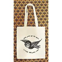 Tote Bag style Bohème - Sac Cabas 100% Coton écologique - idée cadeau pour femme - Cadeau anniversaire