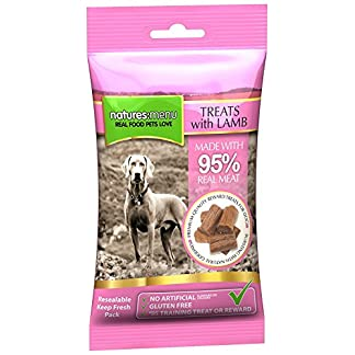 3 x Packs of Real Lamb mini treats (for small dogs) 60g packs – Natures Menu – Made with 95% REAL MEAT – Wheat & Gluten Free 51wiAHQ yWL