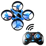 OKPOW RC Quadcopter Mini RC Drone 2.4G 4CH 6-Axis Gyroscope Headless Mode Remote Control Quadrotor with Light RTF Mode 2 Blue