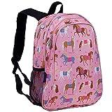 Wildkin Children's Backpack with Side Pocket - Pink Ponies Sac à Dos Enfants, 41 cm, 3 liters, Rose (Pink)