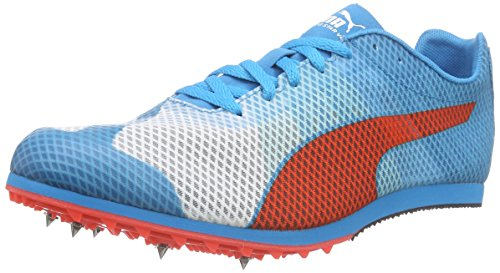 Puma Evospeed Star V4, Chaussures de Course pour Compétition Homme Blanc - Weiß (white-atomic blue-red blast 01)