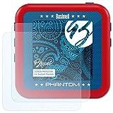 Bruni Schutzfolie für Bushnell Phantom Folie - 2 x glasklare Displayschutzfolie