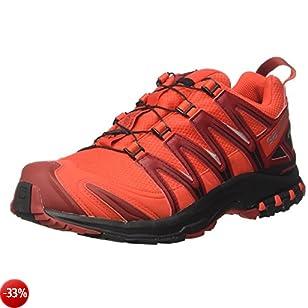 Salomon XA Pro 3D Gtx, Scarpe da Escursionismo Uomo, Rosso (Fiery Red/Black/Red Dalhia), 44 2/3 EU